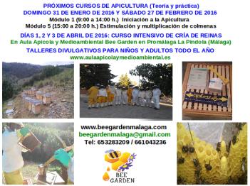 Cursos apicultura inicio 2016 Bee Garden