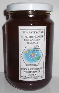 Bote de miel 500 gr. www.beegardenmalaga.com